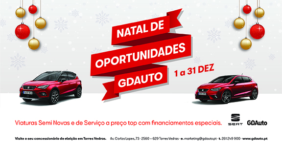 O Natal já está na GDAuto em Torres Vedras
