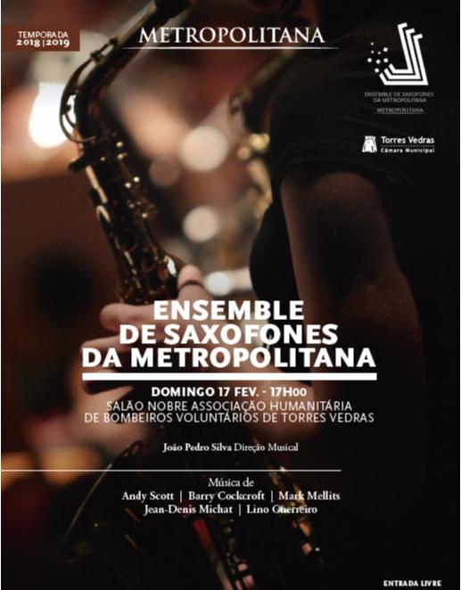 Salão Nobre dos Bombeiros recebe Ensemble de Saxofones Metropolitana