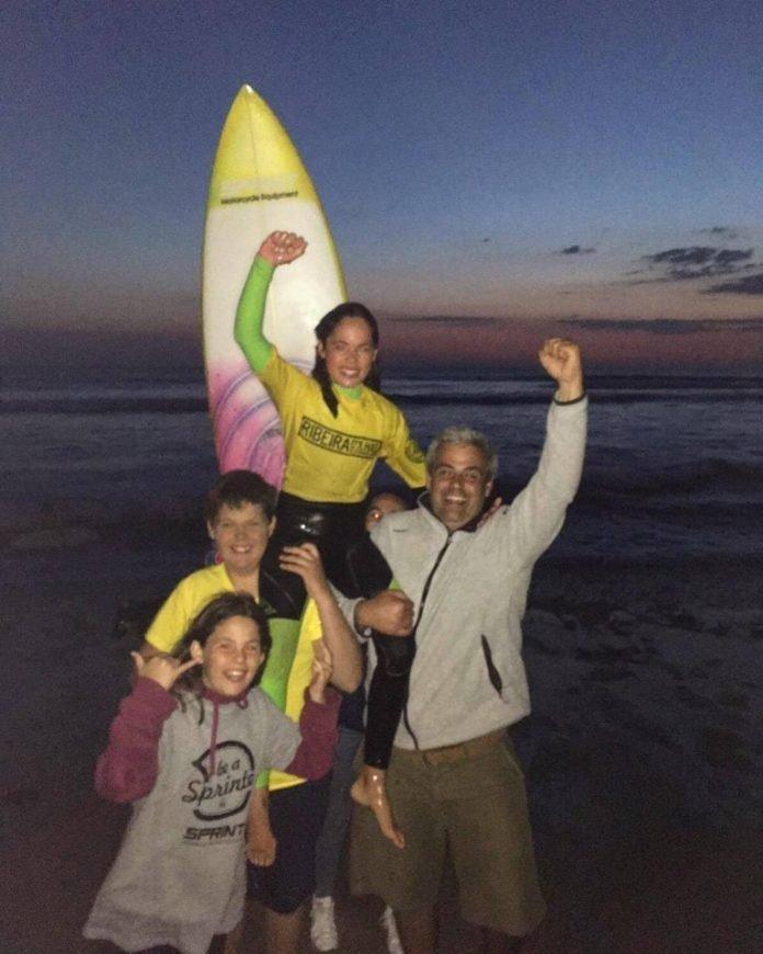 Maria Salgado conquista primeiro lugar na terceira etapa do Circuito de Surf do Centro