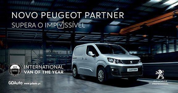 Novo Peugeot Partner foi eleito o melhor 'Furgão Internacional do Ano 2018