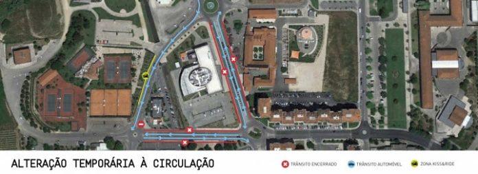 Estão a ser realizados testes de alteração de trânsito na zona sul da cidade de Torres Vedras