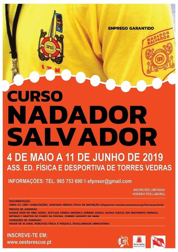 Inscrições abertas para curso de nadador-salvador em Torres Vedras