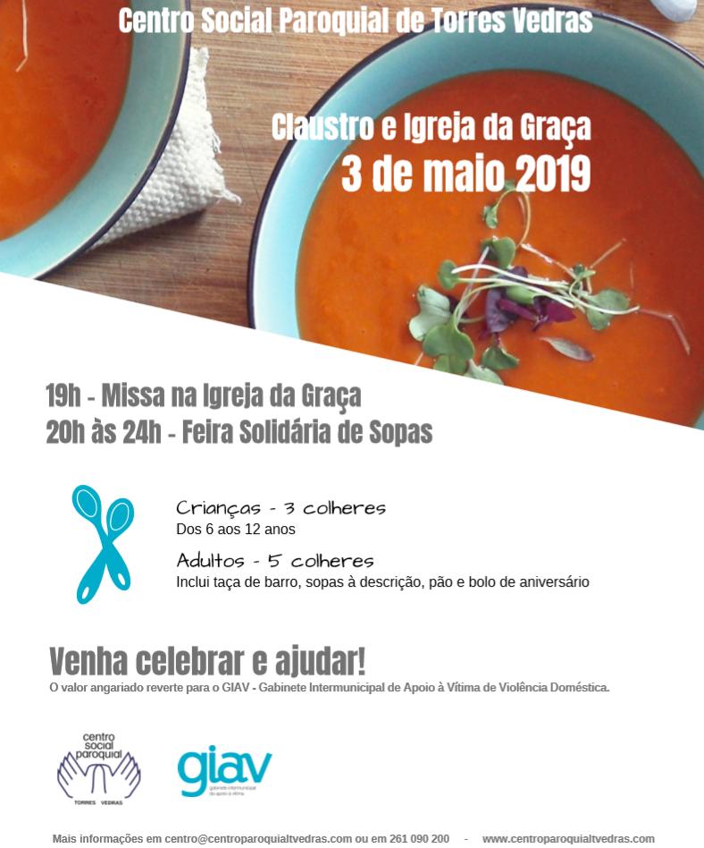 Centro Social Paroquial de Torres Vedras celebra 35º aniversário com Feira Solidária de Sopas