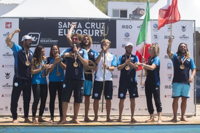 Portugal em segundo lugar no Eurosurf 2019 em Santa Cruz