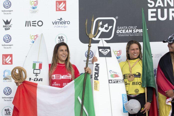 Portuguesa Francisca Veselko alcança segundo lugar no Europeu de surf
