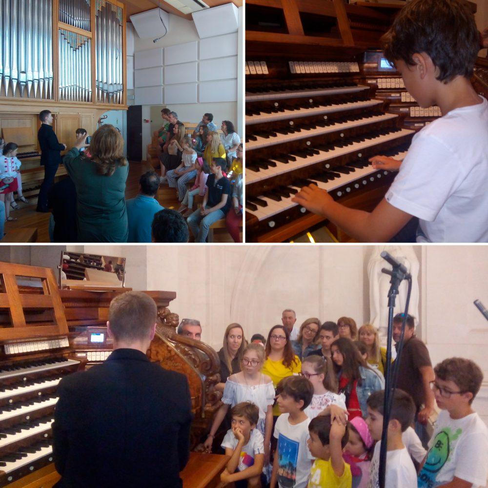 Escola de Música da Física visitou órgãos do Santuário de Fátima