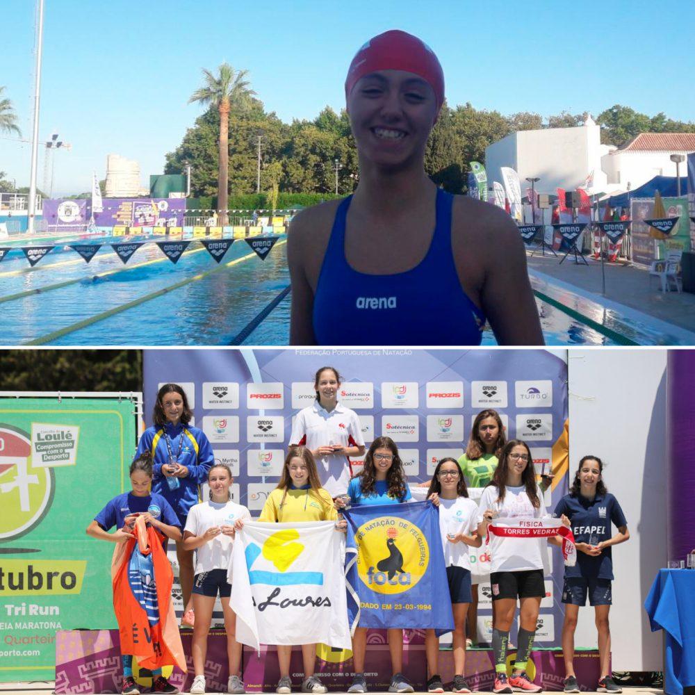 Teresa Garcell no Campeonato Nacional de Infantis