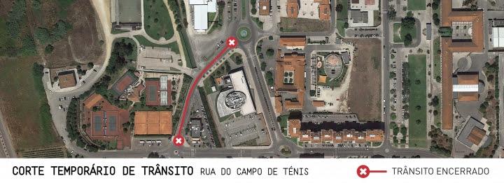 Corte temporário de trânsito na Rua do Campo de Ténis