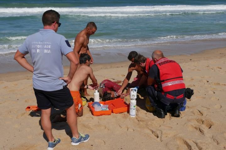 """Simulacro de resgate aquático testou procedimentos do projeto """"Praia Segura"""""""