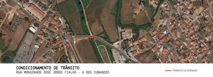 TORRES VEDRAS: Trânsito condicionado junto à ponte de A-dos-Cunhados