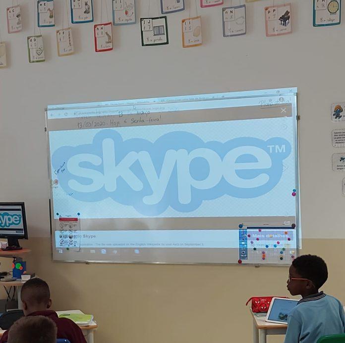 Escola Internacional de Torres Vedras com aulas via Skype