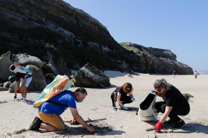 Covid-19: Recolha de lixo e convívio de regresso à praia de Santa Cruz em segurança