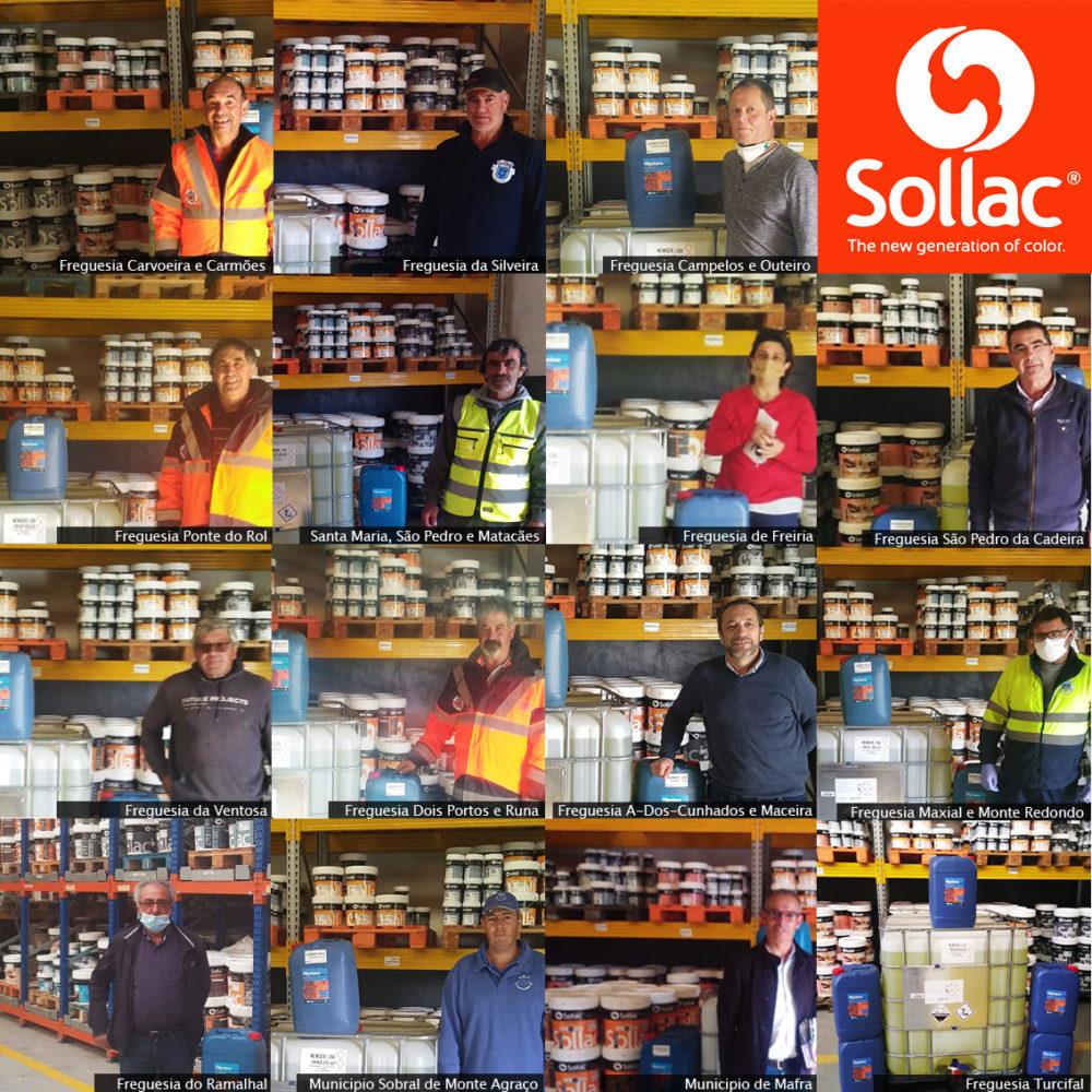 Sollac Tintas oferece quase 100.000 litros de desinfetante oferecidos para o combate ao COVID 19
