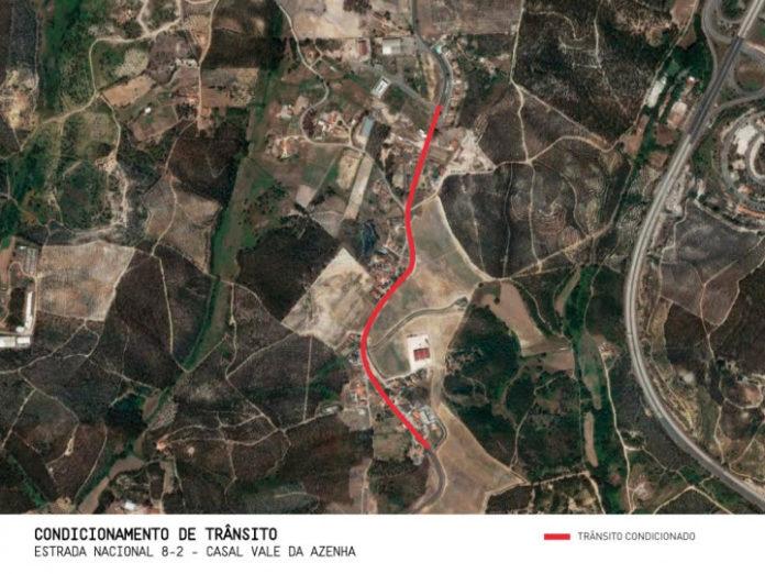 TORRES VEDRAS: Condicionamento de trânsito na EN8-2 em Casal Vale da Azenha