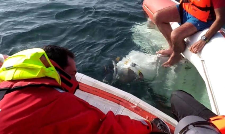 Quatro pessoas resgatadas em embarcação partida ao largo de Peniche