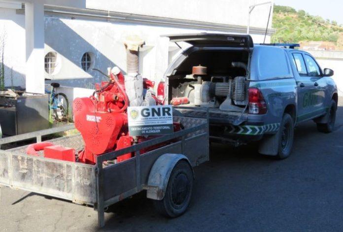 Alenquer: GNR recupera material furtado no valor de mais de 10 mil euros