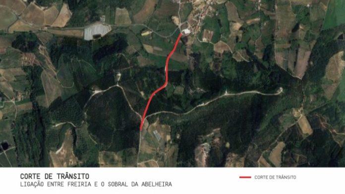 Interdição de circulação na estrada Freiria - Sobral da Abelheira