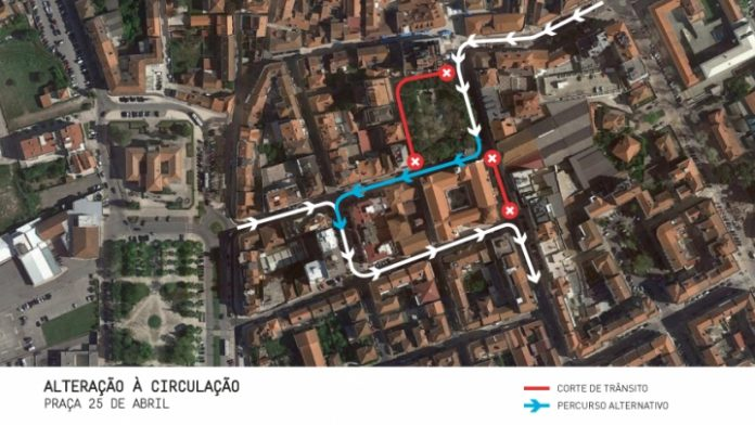 TORRES VEDRAS: Alteração à circulação na Praça 25 de Abril