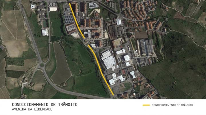 Torres Vedras: Condicionamento de trânsito na Avenida da Liberdade