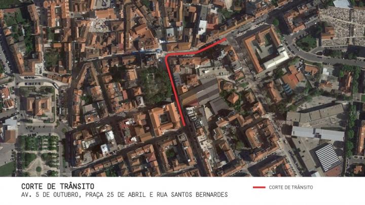 Interdição de trânsito no centro de Torres Vedras