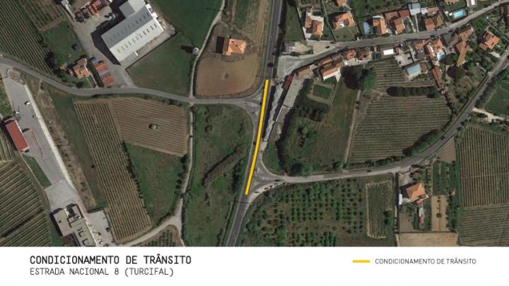 Torres Vedras: Condicionamento de trânsito em troço da Estrada Nacional 8